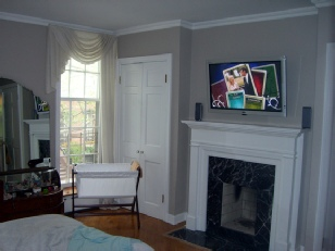 how to install a plasma tv above a fireplace